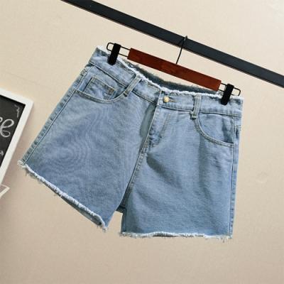【韓國K.W.】(現貨)獨家款日系清甜高腰破洞牛仔哈倫褲-1色