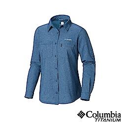 Columbia 哥倫比亞 女款-鈦 涼感快排長袖襯衫-深藍 UAL91370NY