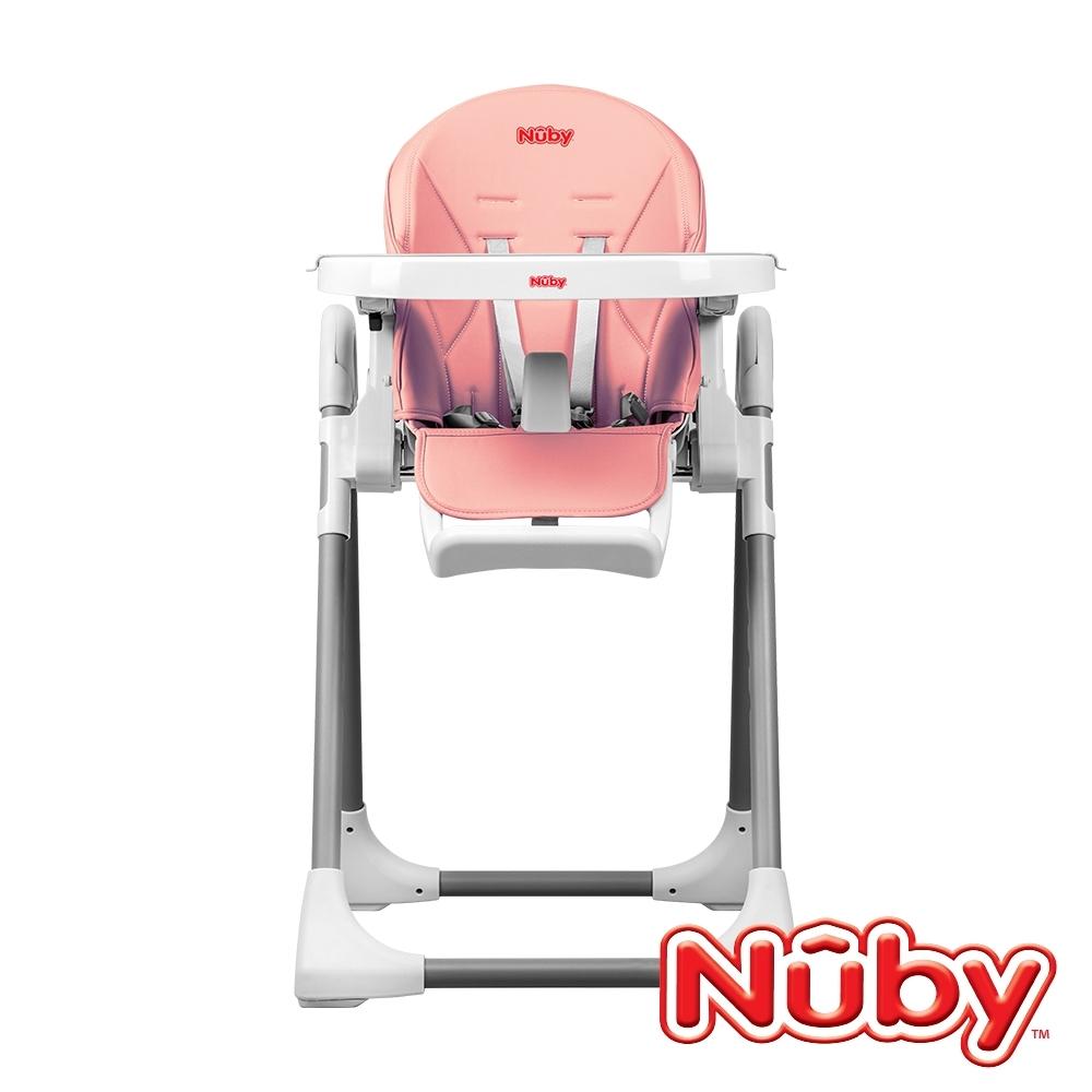 (滿額回饋超贈點)【美國 Nuby】多功能成長型高腳餐椅-山櫻粉