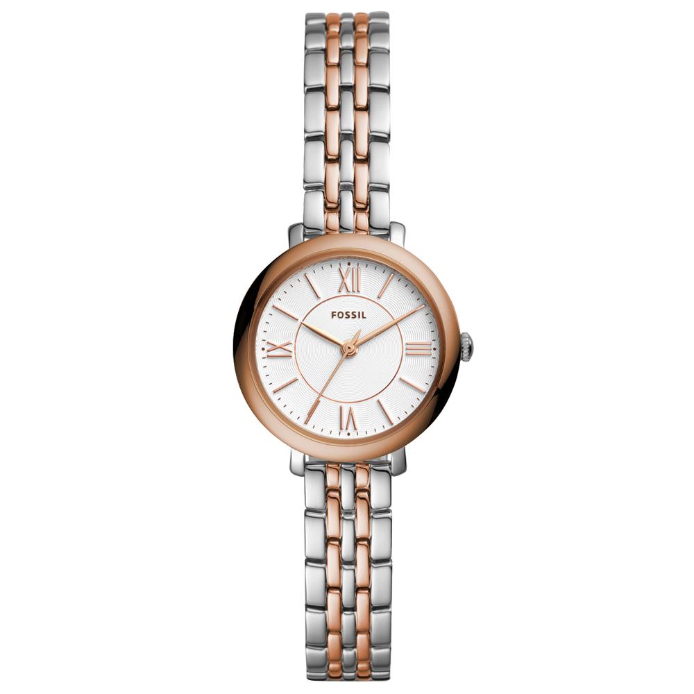 FOSSIL Jacqueline優雅時尚雙色手錶(ES4612)-玫瑰金框/26mm