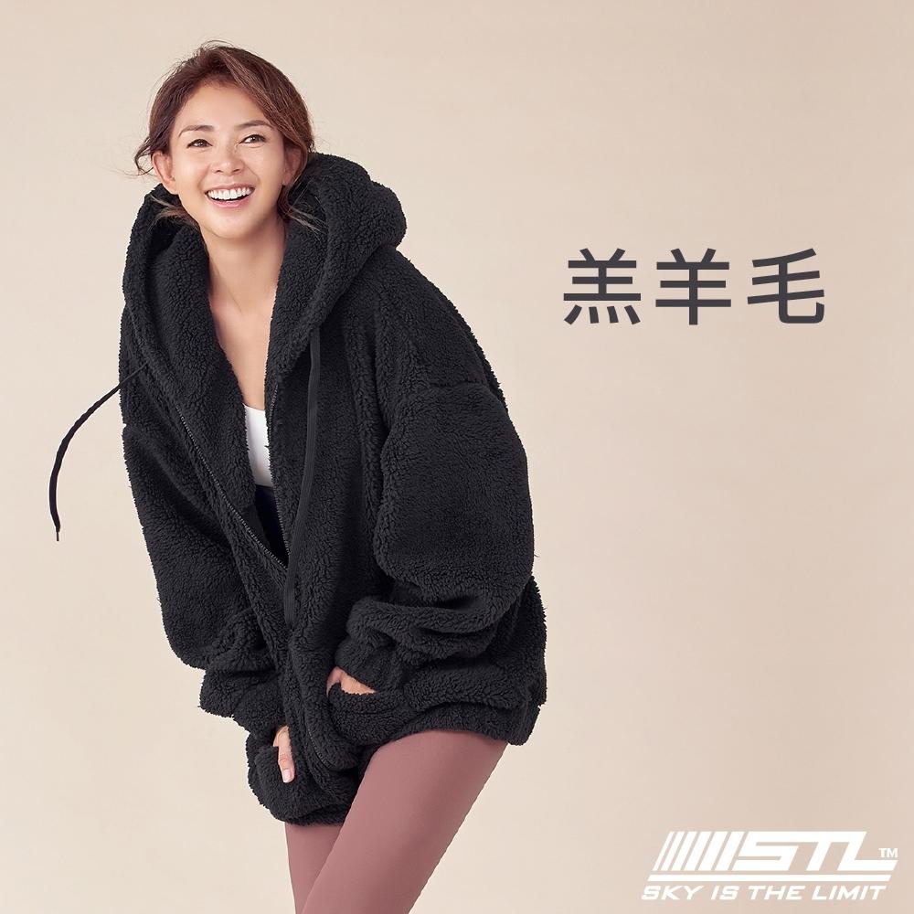 STL Bosong Metro Hood Zip up 韓國 羔羊毛 運動休閒連帽長版保暖外套 黑Black