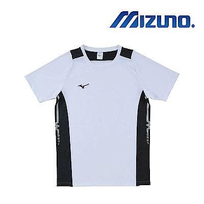 MIZUNO 美津濃 男女短袖排球T恤 白黑 V2TA8G1901