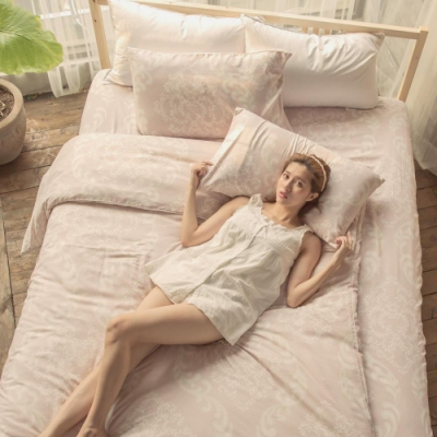 BUHO 舒涼TENCEL天絲雙人三件式床包枕套組(月河琴調)