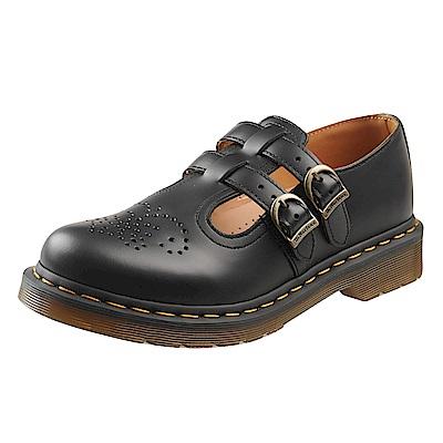 Dr.Martens-經典8065MARY JANE橫帶雙扣瑪莉珍鞋-黑色R12916001