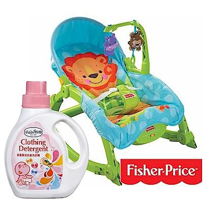 費雪牌 可愛動物可攜式兩用安+貝恩Baan 嬰兒抗菌洗衣精/1000ml