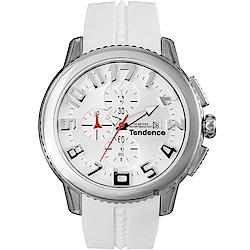 Tendence 天勢 圓弧系列計時手錶-黑/47mm(TY016002)