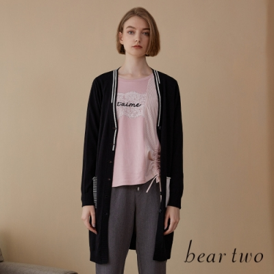 beartwo- 雙口袋造型排釦針織外套