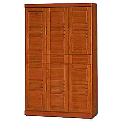 綠活居 尼圖時尚3.7尺實木六門高鞋櫃/玄關櫃-111.6x39x183cm-免組