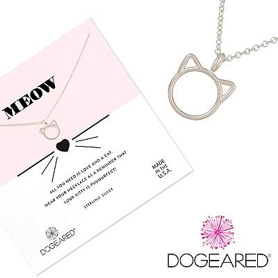 Dogeared purrfection 銀色貓咪項鍊 呼嚕愛自由愛冒險 附原廠盒