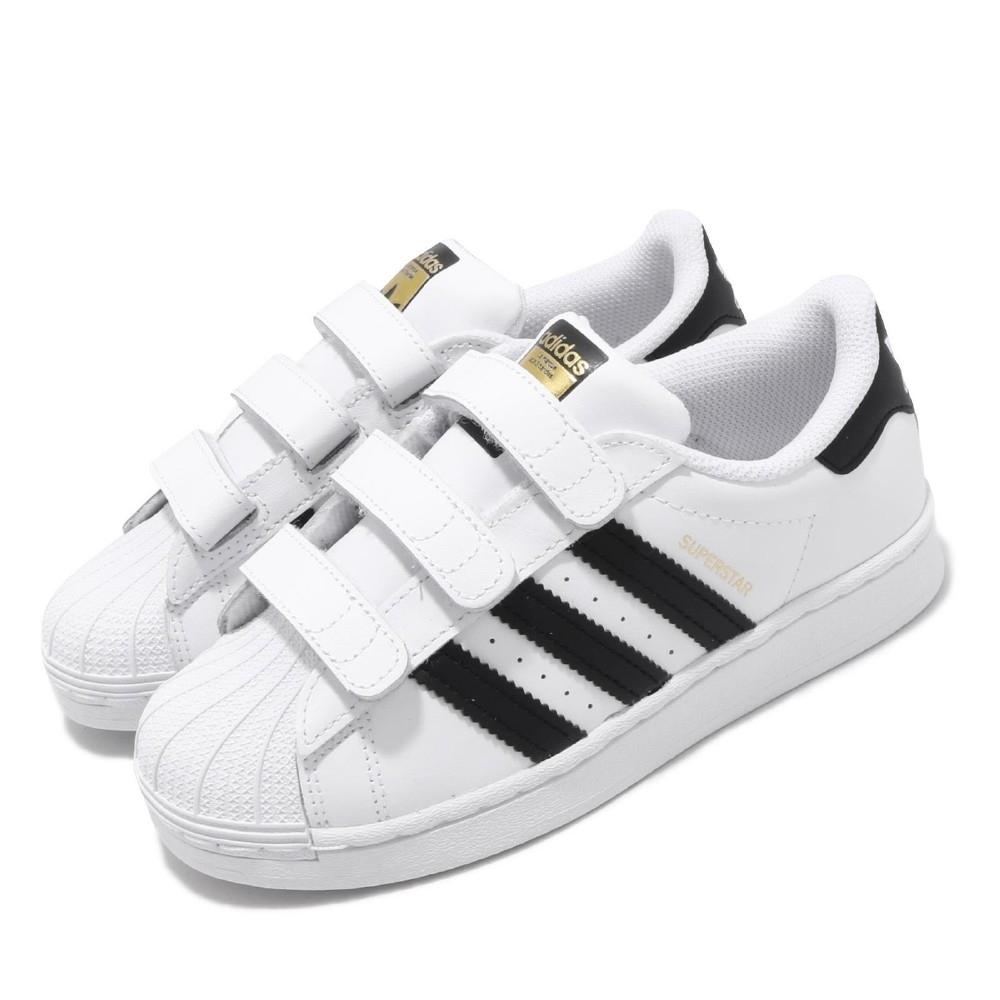 adidas 休閒鞋 Superstar CF C 魔鬼氈 童鞋