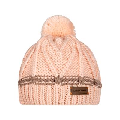 【Mammut 長毛象】Sally Beanie 保暖針織毛球羊毛帽 夕砂粉 #1191-00430