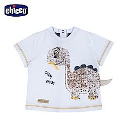 chicco-小恐龍-短袖上衣