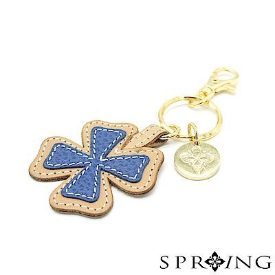 SPRING-朵朵滿滿幸運草鑰匙圈-幸運大海藍
