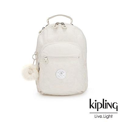 Kipling 優雅米白機能手提後背包-CLAS SEOUL S