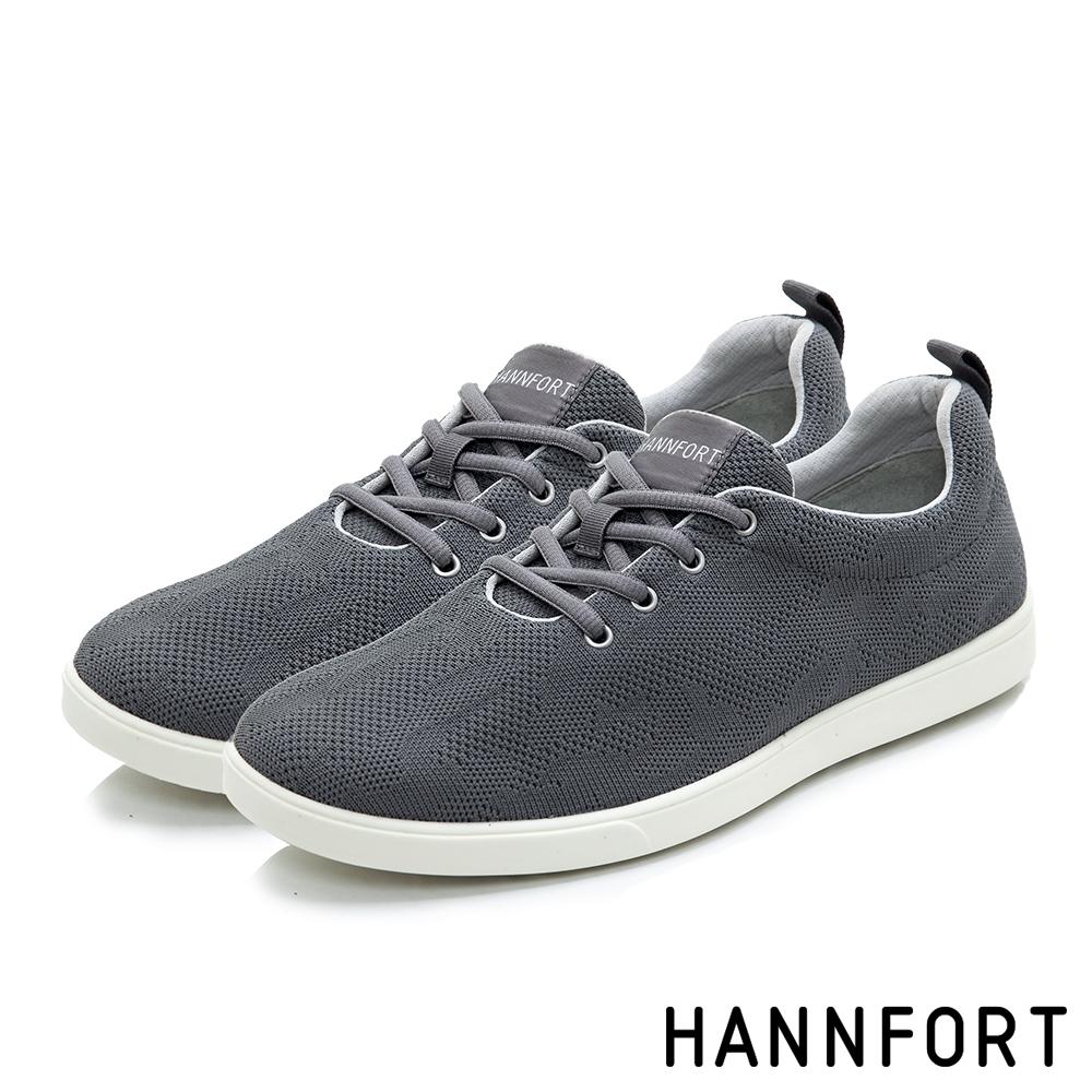 HANNFORT CARIBBEAN編織休閒鞋-男-灰