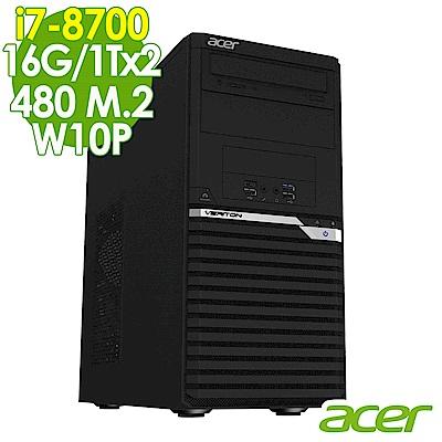 Acer VM6660G i7-8700/16G/1Tx2+480M2/W10P