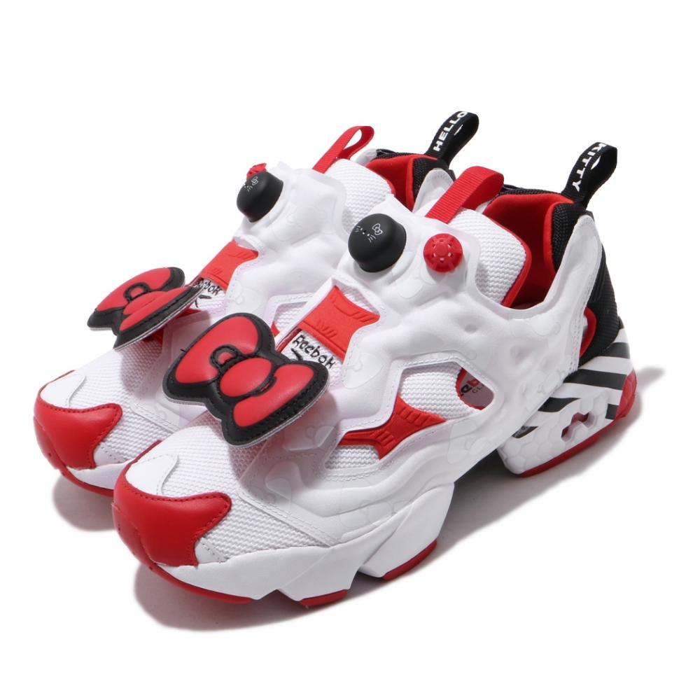 Reebok 休閒鞋 InstaPump Fury 運動 女鞋 Hello Kitty 聯名 充氣科技 白 紅 EH2798