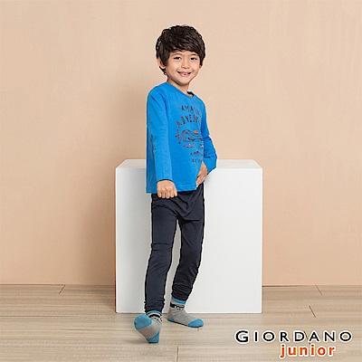 GIORDANO 男女童G-Warmer極暖系列內搭保暖褲-04 標誌海軍藍