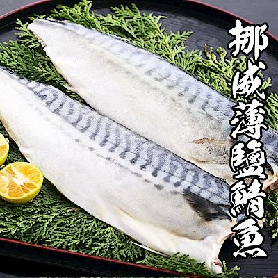 【海鮮王】挪威薄鹽鯖魚 *5片組(140g-160g±10%/片)