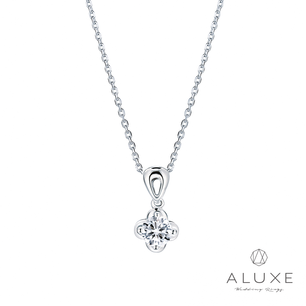 A-LUXE 亞立詩  Flora18K金 0.30克拉幸運草鑽石項鍊