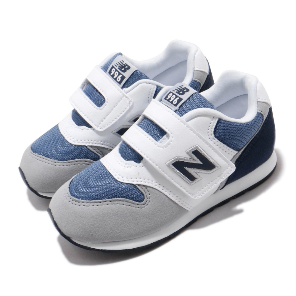 New Balance 休閒鞋 寬楦 童鞋 紐巴倫 基本款 簡約 舒適 魔鬼氈 灰 黑 IZ996PNVW