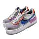 Nike 休閒鞋 AF1 Shadow 運動 女鞋 厚底 舒適 穿搭 色塊拼接 球鞋 銀 藍 CW6030001 product thumbnail 1