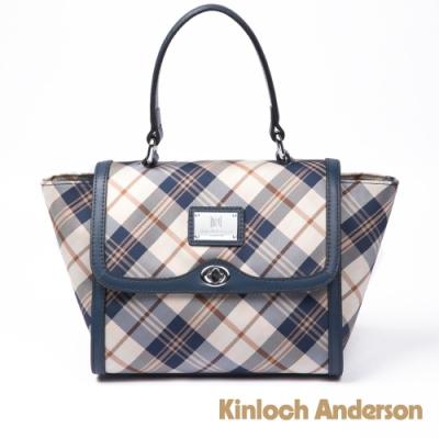 【金安德森】懷特島旅行 經典格紋2Way手提包--蔚海藍