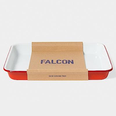 英國Falcon 獵鷹琺瑯 琺瑯托盤 紅白