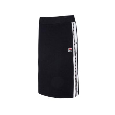 FILA #LINEA ITALIA 針織窄裙-黑 5SKT-5425-BK