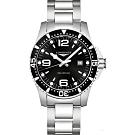 LONGINES 浪琴(L38404566 )300米石英潛水款x黑x44mm