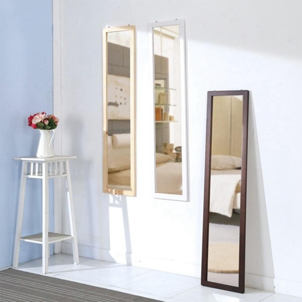 佳美 95CM台灣製質感實木全身鏡 壁鏡 掛鏡 立鏡 鏡子 (三色可選)