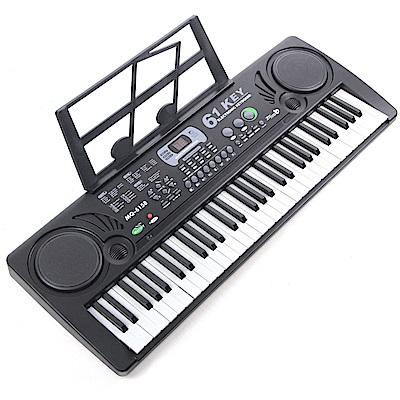 61鍵音樂多功能電子琴樂器 (附麥克風、歌本架)