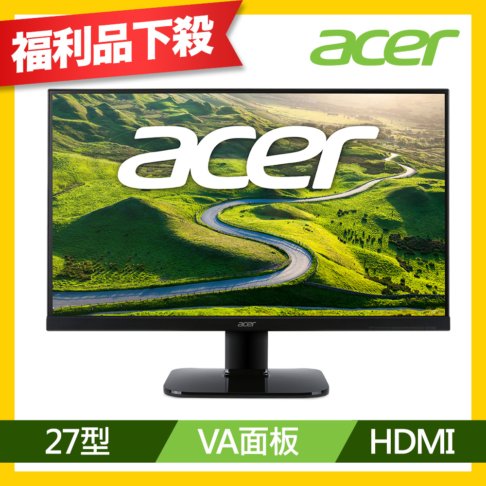 acer KA270H VA不閃屏濾藍光護眼螢幕(福利品)