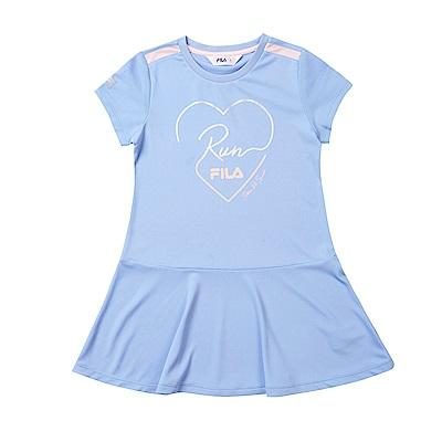 FILA KIDS 抗UV吸濕排汗洋裝-藍紫 5DRT-4324-VT