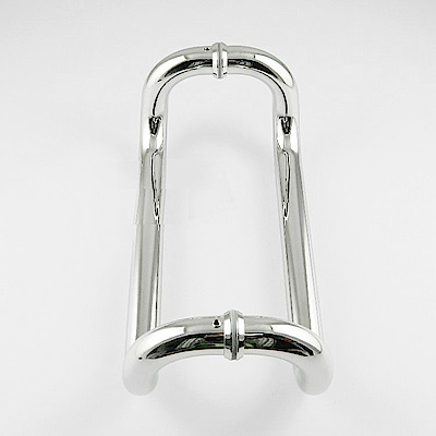 ID017 雙彎把手 60CM 白鐵色 四折把手 不鏽鋼把手 白鐵把手 玻璃門把手
