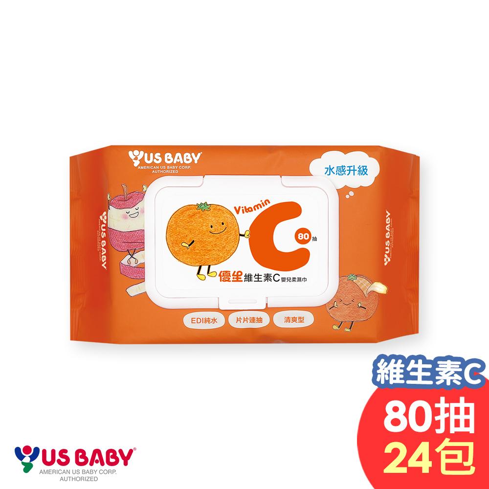 [限時搶購]優生維生素C嬰兒濕巾80抽x24包/箱