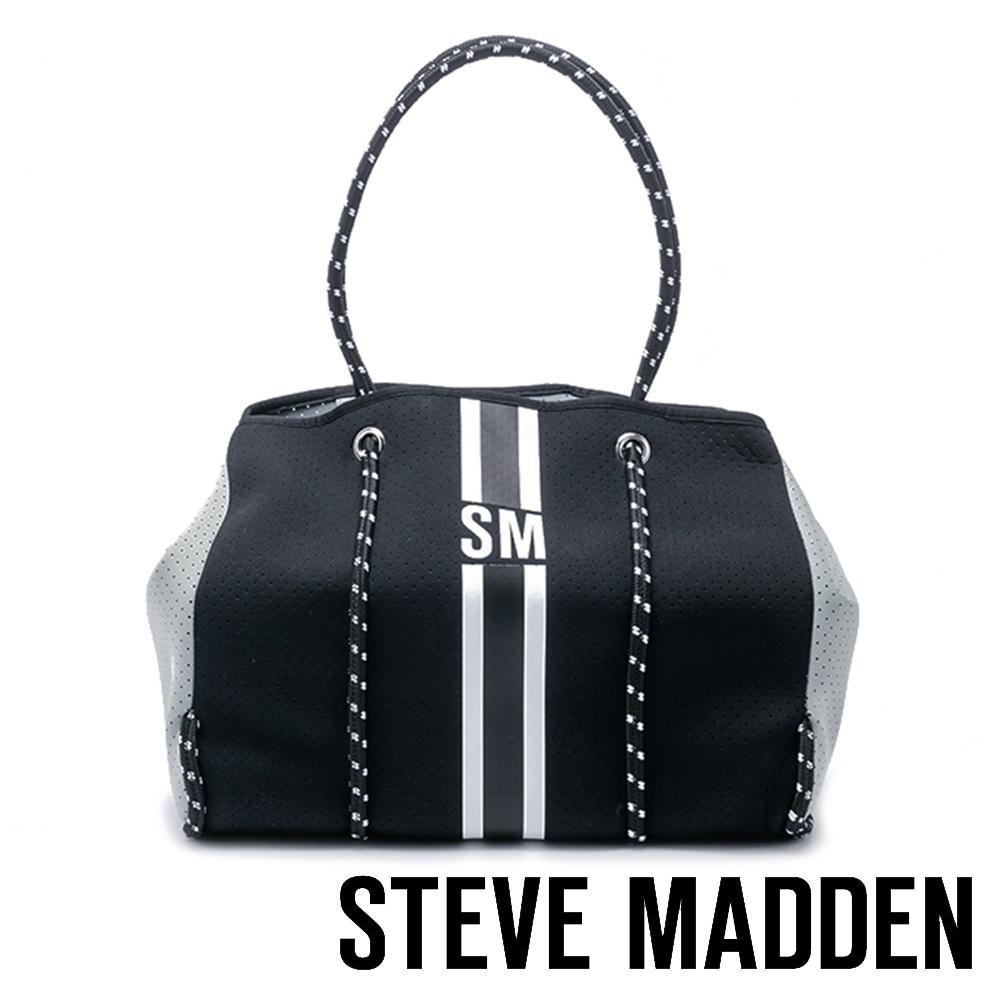 STEVE MADDEN-BLANAI-S 魅力個性 經典大容量波士頓包-黑色(附贈小包)