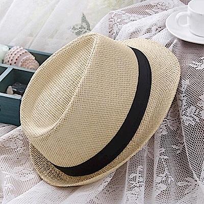 米蘭精品 草帽防曬遮陽爵士帽-夏季個性有型休閒女帽子母親節禮物73rp120