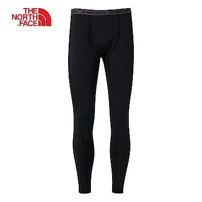 The North Face北面男款黑色貼身運動長褲|CK20KX7