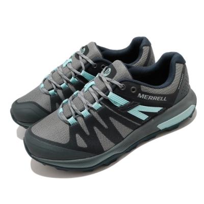 Merrell 戶外鞋 Zion FST Waterproof 女鞋 登山 越野 防水 透氣 支撐 避震 膠底 灰 藍 ML035396
