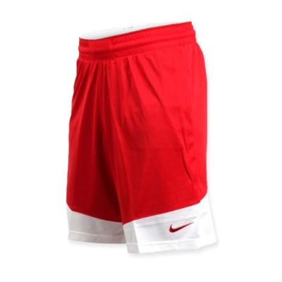 NIKE 男籃球針織短褲-路跑 慢跑 訓練 五分褲 紅白