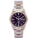 SEIKO 輕量鈦金屬手錶(SGG729P1)-黑面x銀色/36mm