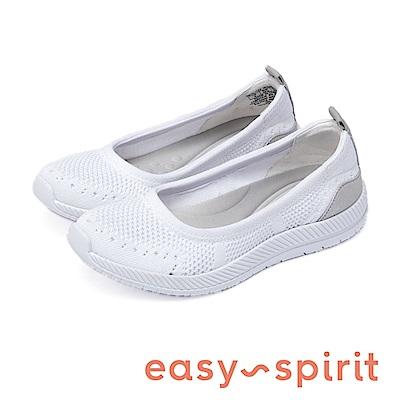 Easy Spirit-seGLITZ2 活力舒適 後跟異材質拼接休閒平底鞋 白色