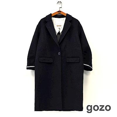 gozo 西裝領單釦羊毛厚呢外套(二色)