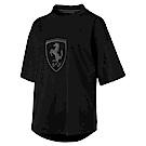 PUMA-女性法拉利經典系列大盾牌短袖T恤-黑色-歐規