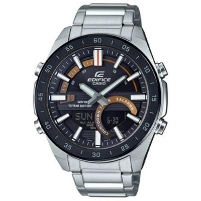 EDIFICE新潮流賽車概念雙顯腕錶(ERA-120DB-1B)黑X黃/51.5mm