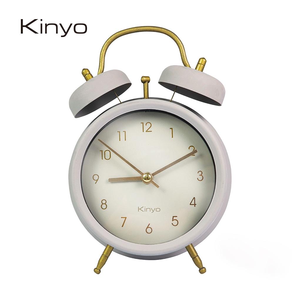 KINYO經典復古金屬鬧鐘(灰)ACK7109GY