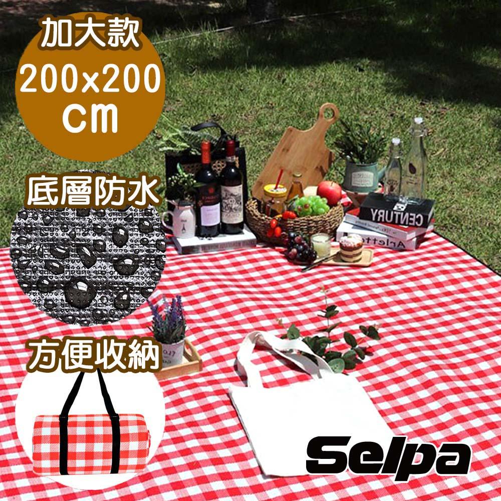 韓國SELPA 加大繽紛野餐墊 露營 地墊 防潮墊(三色任選)