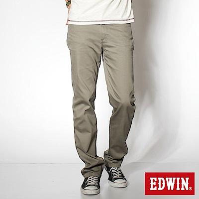 EDWIN EDGE 乾爽COOL RELAX中直筒休閒褲-男-灰綠色