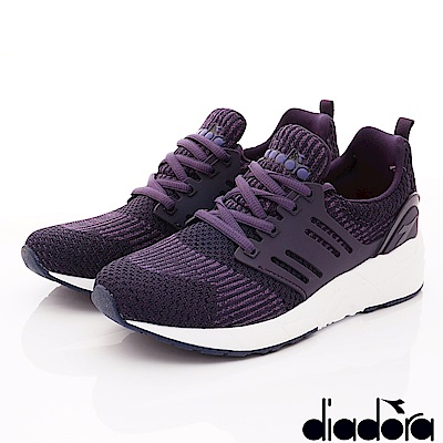 DIADORA-針織輕彈跑鞋款 CSI897紫(女段)